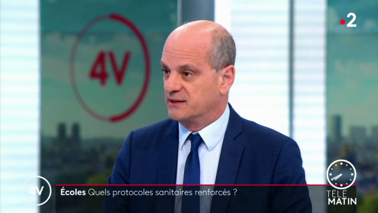 Jean-Michel Blanquer, ministre de l'Éducation invité de la matinale de France2 - Capture Nos Lendemains.