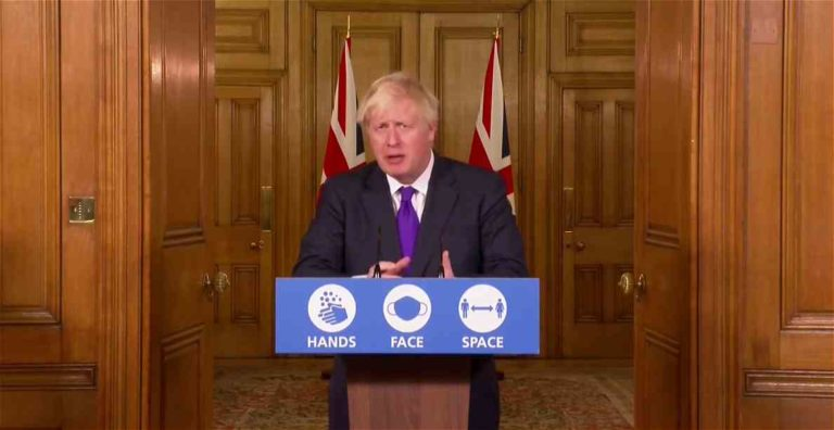Briefing du PM Boris Johnson sur la mise en place de la vaccination Covid-19 en Grande-Bretagne - Capture Nos Lendemains.